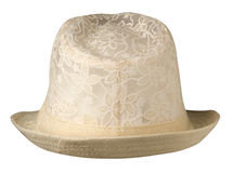 Hat with a brim . Hat isolated on white background .beige hat stock images