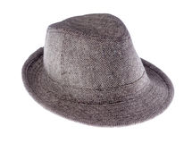 Hat with a brim isolated on white. Background.side view stock images