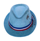 Hat with a brim on white Royalty Free Stock Photo