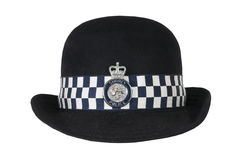 Hat of British police officer royalty free stock photo