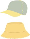 Hat and  cap template Stock Photos
