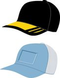 Hat and  cap template Royalty Free Stock Image