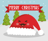 Hat cartoon of Chistmas design Royalty Free Stock Image
