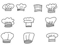 Hat chef isolate vector set. Hand drawn Hat chef isolate vector set Stock Photos
