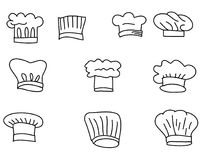 Hat Chef vector set Royalty Free Stock Photography