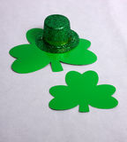 Hat & Clover Royalty Free Stock Images