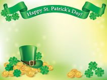Hat and coins St. Patrick Royalty Free Stock Photo