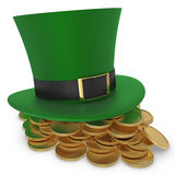 Hat and coins St. Patrick`s day Stock Images