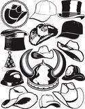 Hat Collection Stock Photography
