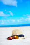 Hat and colorful sunglasses Royalty Free Stock Image