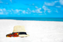 Hat and colorful sunglasses Stock Photo