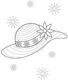 Hat coloring page. Useful as coloring book for kids Stock Photos