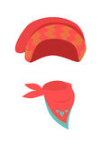 Hat. Contemporary Red Headwear for Girls and Scarf Royalty Free Stock Image
