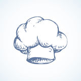 Hat cook. Vector drawing Stock Photography
