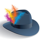 Hat Decorated With Feathers Stock Image