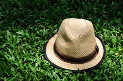 Hat on a dimly lit courtyard Royalty Free Stock Photography