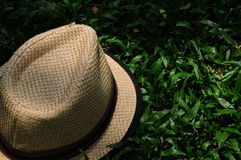 Hat on a dimly lit courtyard Hat Guy Brown Royalty Free Stock Photo