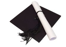 Hat_diploma Royalty Free Stock Photos
