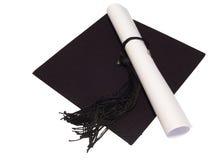 Hat_diploma Fotografie Stock Libere da Diritti