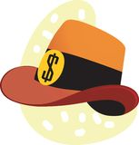 Hat with dollar sign Royalty Free Stock Photography