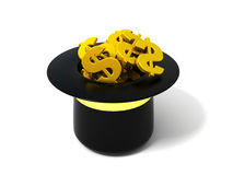 Hat with dollar signs Royalty Free Stock Photo