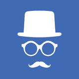 Hat, Eyeglasses and Mustache Stock Photography