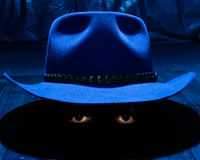 The hat and the eyes Royalty Free Stock Photos