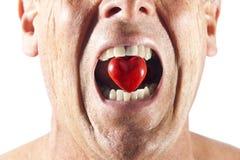 Hat för hjärtamunförälskelse royaltyfria foton