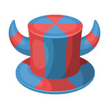 Hat of a fan with horns.Fans single icon in cartoon style rater,bitmap symbol stock illustration. Stock Image