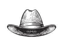 Hat farmer, gardener or cowboy. Sketch vector Vector Illustration