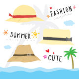 Hat Fashion Summer Cute Cartoon Vector Royalty Free Stock Images