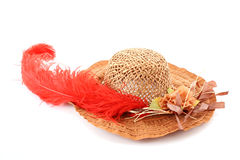 hat with   feather Royalty Free Stock Images