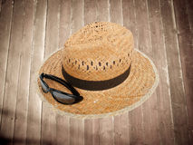 Hat on the floor Stock Image