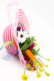 Hat and flower bouquet Stock Photography