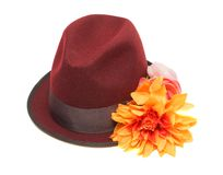 Hat with a flower Stock Images