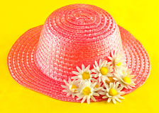 Hat with flowers Stock Photos