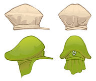 Hat front and side view Royalty Free Stock Images