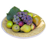 Hat with fruit. Royalty Free Stock Image