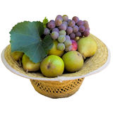 Hat with fruit. Stock Images