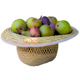 Hat with fruit. Stock Photos