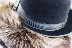 Hat and fur Royalty Free Stock Image