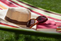 Hat, glasses and a book Royalty Free Stock Photos
