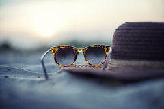 Hat and glasses Royalty Free Stock Images