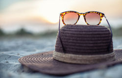 Hat and glasses Royalty Free Stock Image