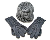 Hat and gloves Royalty Free Stock Photography