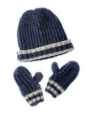 Hat and gloves Stock Images