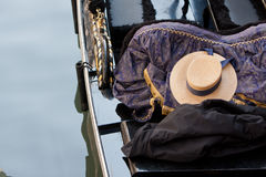 Hat in gondola Royalty Free Stock Photos