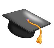 Hat graduates royalty free stock photos