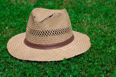 Hat on grass Stock Photography