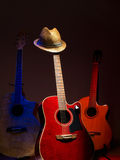 Hat and guitars Stock Photo